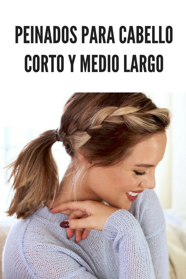 Peinados para cabello corto y medio largo